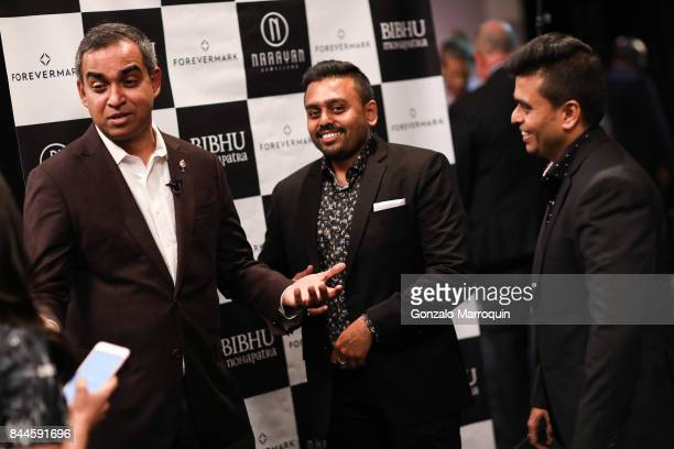 Bibhu Mohapatra Ketan and Jatin Chokshi during the Bibhu Mohapatra fashion show with Narayan Jewellers in association with ForeverMark Diamonds at...