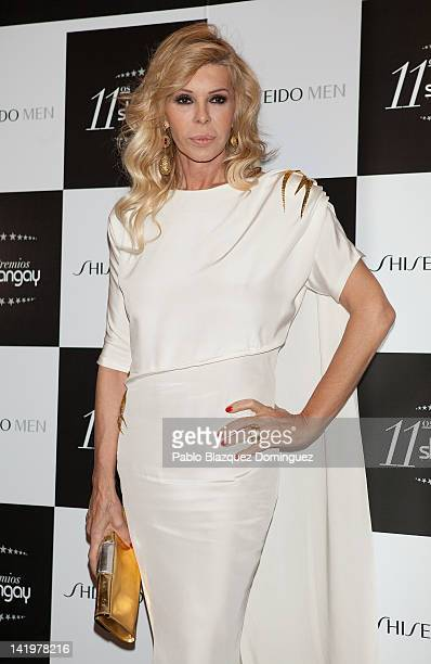 Bibi Andersen attends the Shangay Awards 2012 at Calderon Theater on March 27 2012 in Madrid Spain