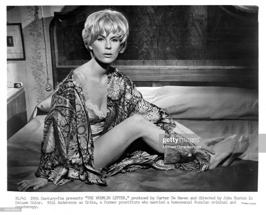 Bibi Andersson in bed ...