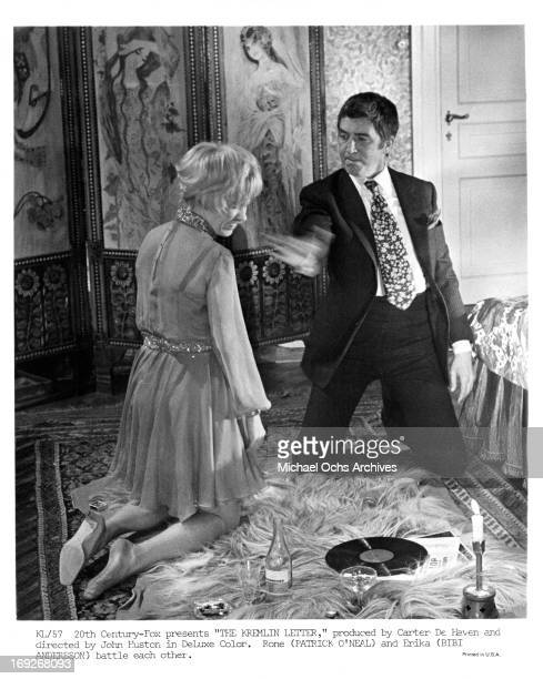 Bibi Andersson is slapped by Patrick O'Neal in a scene from the film 'The Kremlin Letter' 1970