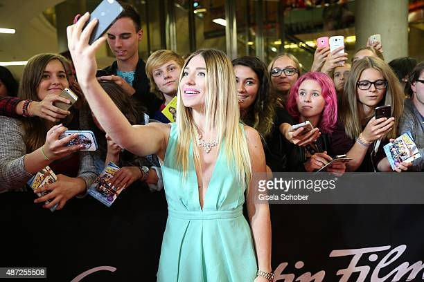 Bibi Bianca Heinicke Bibis Beauty Palace during the world premiere of 'Fack ju Goehte 2' at Mathaeser Kino on September 7 2015 in Munich Germany
