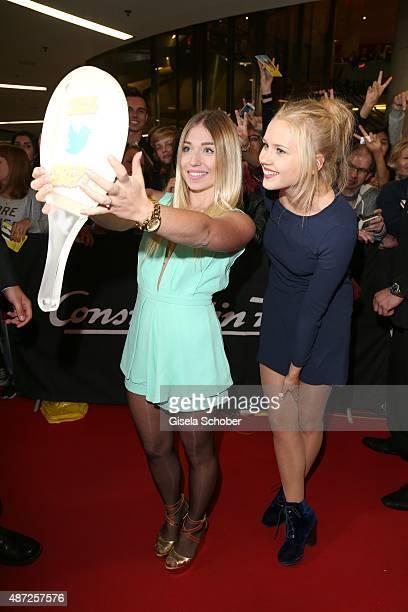 Bibi Bianca Heinicke Bibis Beauty Palace Eva Nuernberg alias Clara Heins TMobile during the world premiere of 'Fack ju Goehte 2' at Mathaeser Kino on...