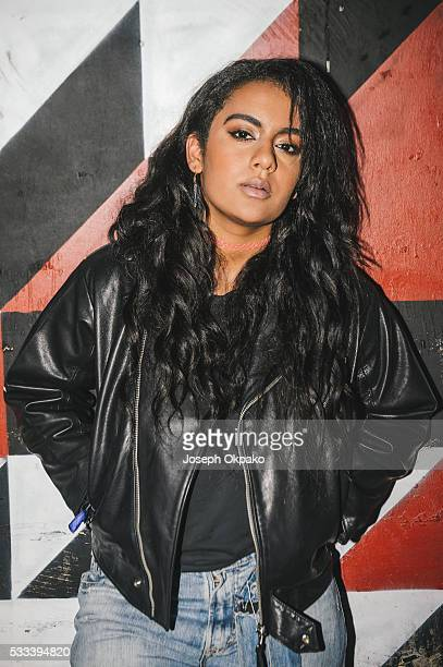 Bibi Bourelly poses backstage on Day 3 of The Great Escape Festival on May 21 2016 in Brighton England