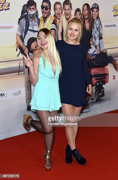 Bibi Heinicke and Eva Nuernberg attend the 'Fack ju Goehte 2' Munich Premiere at Mathaeser Filmpalast on September 7 2015 in Munich Germany