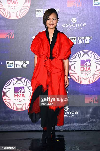 Bibi Zhou attends the MTV EMA's 2014 at The Hydro on November 9 2014 in Glasgow Scotland
