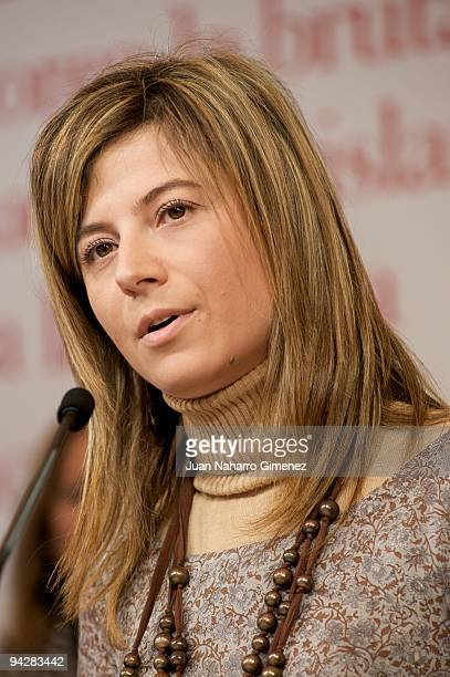 Bibiana Aido attends 'The Journey' exhibition in The Retiro park on December 11 2009 in Madrid Spain