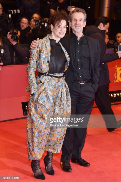 Bibiana Beglau and Ulrich Matthes attend the 'Django' premiere during the 67th Berlinale International Film Festival Berlin at Berlinale Palace on...
