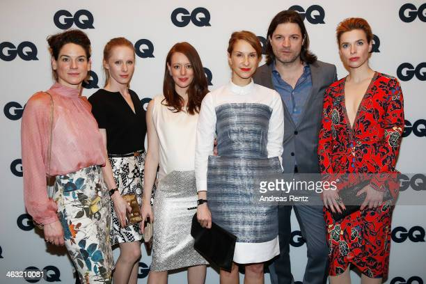 Bibiana Beglau Susanne Wuest Lavinia Wilson Chiara Schoras Misel Maticevic and Thekla Reuten attend the GQ Fashion Cocktail at The Grand on January...