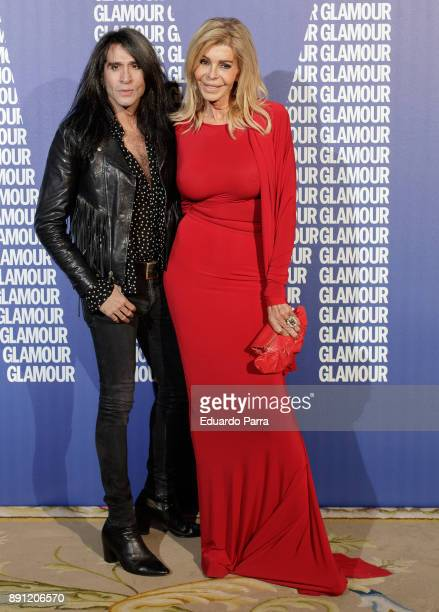 Bibiana Fernandez and Mario Vaquerizo attend the Glamour Magazine Awards photocall at Ritz hotel on December 12 2017 in Madrid Spain