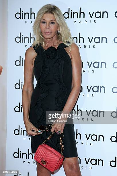 Bibiana Fernandez attends 'Dinh Van' presentation at the French embassy on September 17 2014 in Madrid Spain