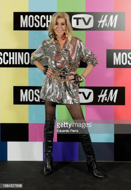 Bibiana Fernandez attends the 'HM Moschino ' photocall at Rolling Space on November 06 2018 in Madrid Spain