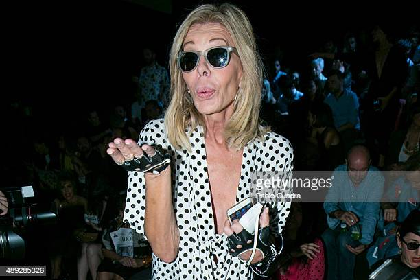 Bibiana Fernandez is seen attending the MercedesBenz Fashion Week Madrid Spring/Summer 2016 at Ifema on September 20 2015 in Madrid Spain