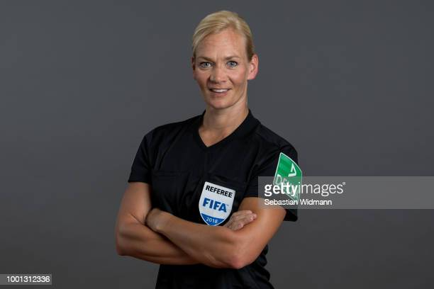 Bibiana Steinhaus poses during the DFB Referees Portrait Session on July 18 2018 in Grassau Germany