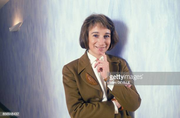 Bibiane Godfroid directrice adjointe des programmes d'Antenne 2 le 10 janvier 1991 a Paris France