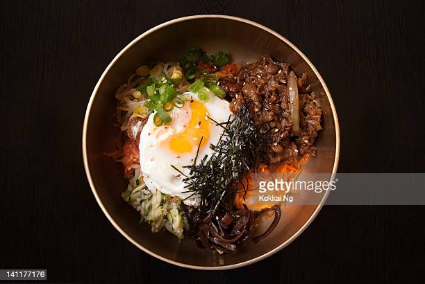 bibimbap - korean food stock pictures, royalty-free photos & images