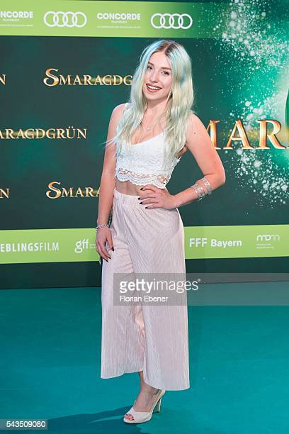 Bibis Beauty Palace attends the 'Smaragdgruen' German Premiere on June 28 2016 in Cologne Germany