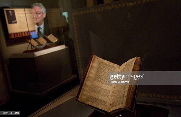 A bible assembled by Thomas Jefferson from four different translations is on display at The Smithsonian National Museum of American History The...