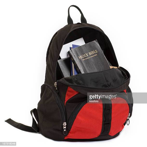 bible backpack - rucksack stock pictures, royalty-free photos & images