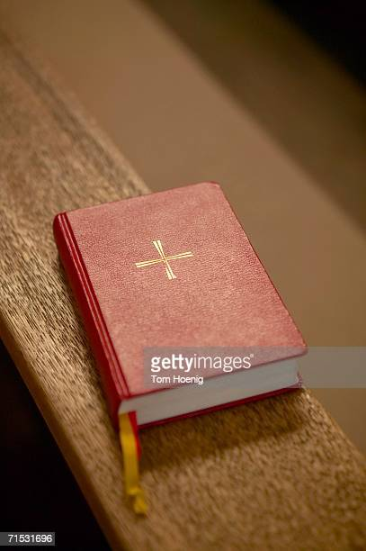 Bible on bench, close-up