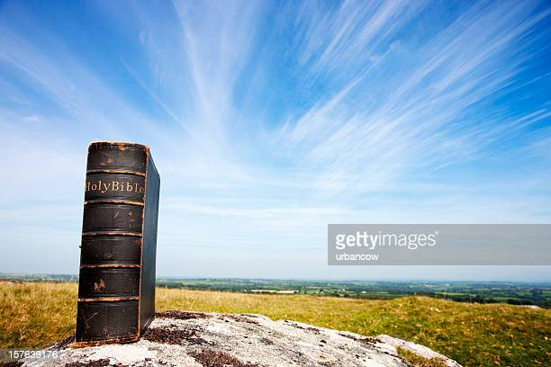 Bible on moorland