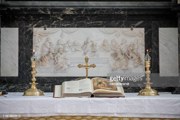 Bible on the altar in old church
