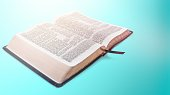 holy bible book wooden background