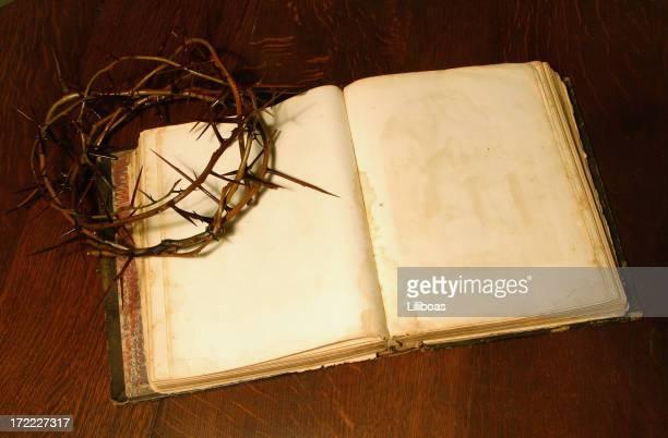 bible series crown of thorns (with copyspace) - death and resurrection of jesus bildbanksfoton och bilder