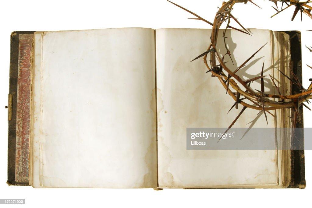 Bíblia série coroa de espinhos : Foto de stock