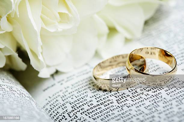 bible wedding rings - wedding ring stock pictures, royalty-free photos & images