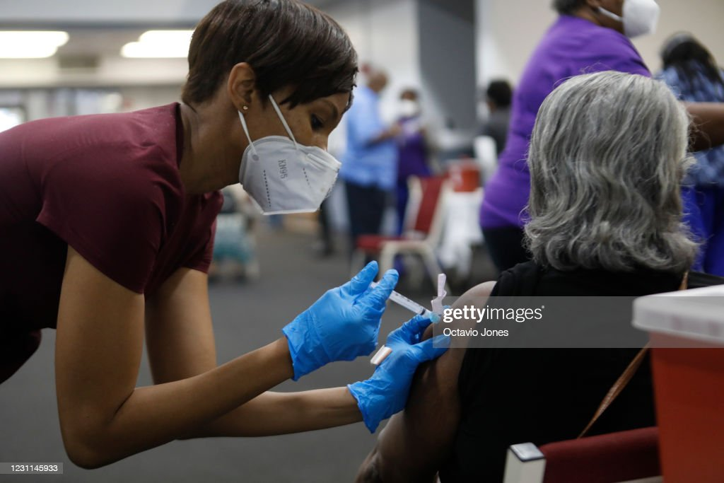 Bible-Based Fellowship Church In Tampa Offers Covid Vaccinations : News Photo