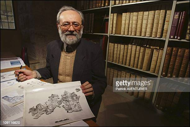 Biblical And Archaeological School Of Jerusalem On March 1 2004 In Jerusalem Israel In The Library Of The Biblical School Father Puech Epigraphist...