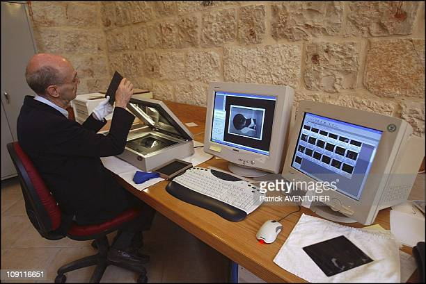 Biblical And Archaeological School Of Jerusalem On March 1 2004 In Jerusalem Israel Father JeanMichel Tarragon Director Of The Photo Library Of The...
