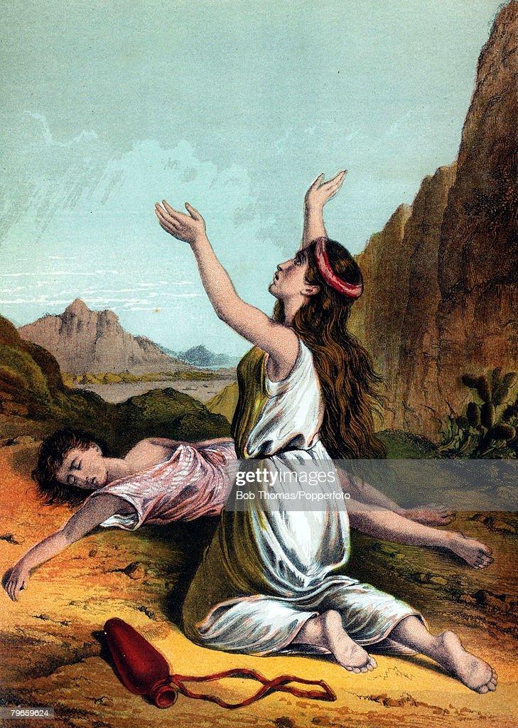 Biblical Scenes, Old Testament, Colour illustration ...