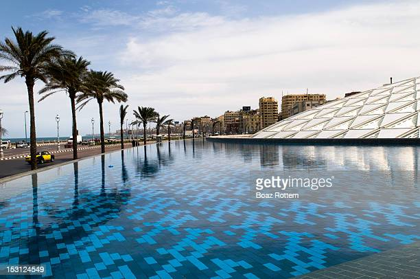 Bibliotheca library by pool, Egypt