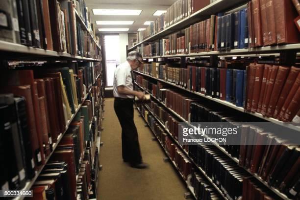 Bibliothèque généalogique mormone en 1981 à Salt Lake City aux ÉtatsUnis