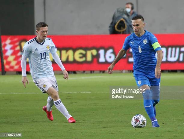 Bibras Natcho of Israel controls the ball during the UEFA Nations League group stage match between Israel and Scotland at Netanya Stadium on November...