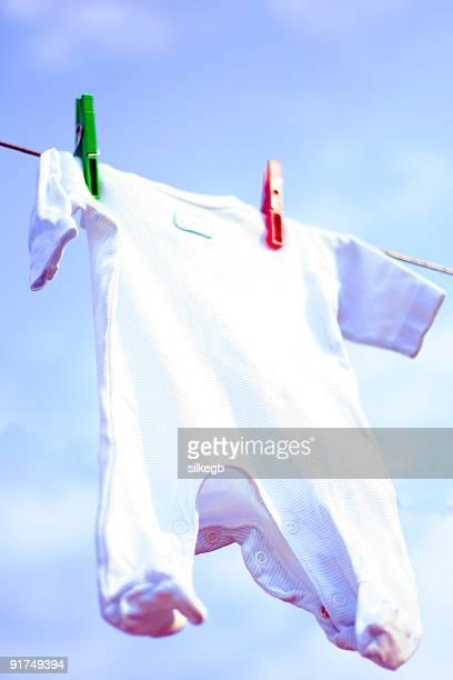 Bibs hanging on washing line