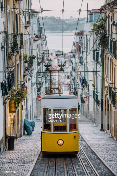 elevador da bica, lisbon - portugal stock pictures, royalty-free photos & images