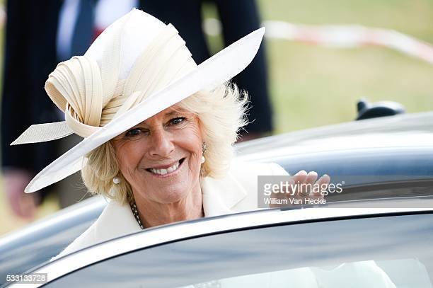 Bicentenaire de la bataille de Waterloo la Princesse Astrid assiste à l'inauguration de la Ferme d'Hougoumont en présence du Prince de Galles et la...