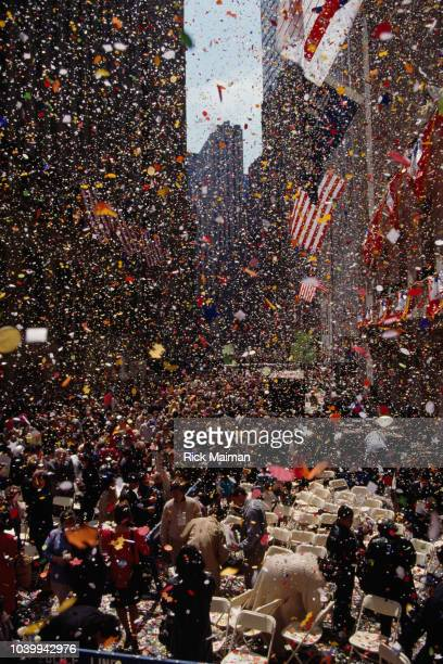 Bicentenary celebration of the investiture of George Washington as President of the United States on April 30 1789 in front of the Federal Hall...