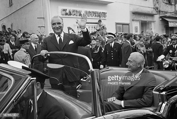 Bicentennial Of The Birth Of Napoleon 1St President George Pompidouin Official Visit To Corsica Aout 1969 le président Georges POMPIDOU en visite en...