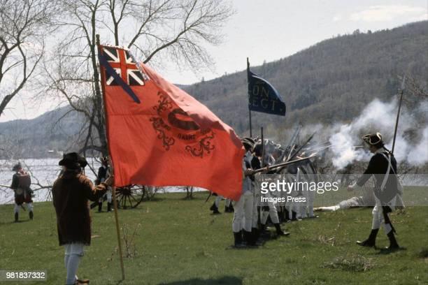 Bicentennial Reenactment circa 1975 in Fort Ticonderoga New York