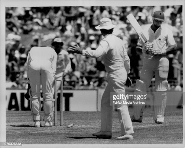 Bicentennial Test cricketEngland Vs Aust at SCGMoxon out bowled sleep mat January 29 1988