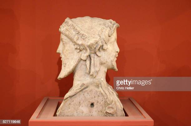 bicephalous hermes (40-50ad) frejus - hermes stock pictures, royalty-free photos & images