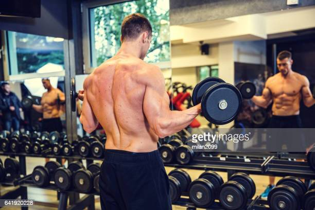biceps workout - human muscle stock pictures, royalty-free photos & images