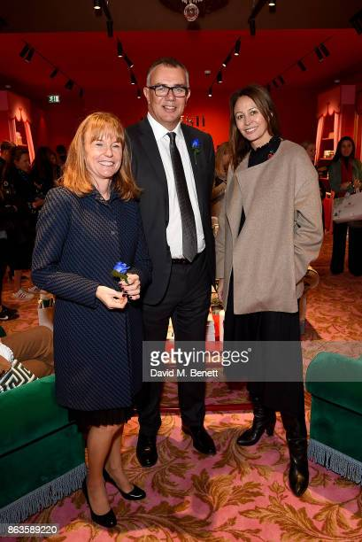 Bicester Village Business Director SarahJane Curtis Bicester Village Business Director Andrew Marshall and Chief Executive of the British Fashion...