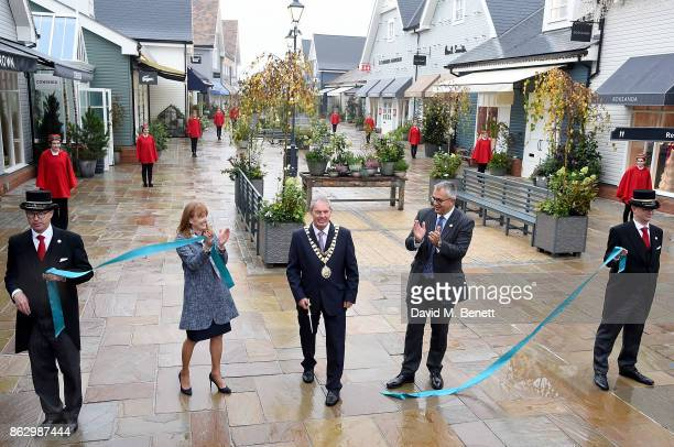 Bicester Village Business Director SarahJane Curtis Mayor Bicester Councillor Les Sibley and Bicester Village Business Director Andrew Marshall...