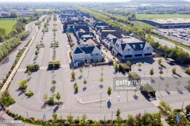 Bicester Village in Oxfordshire under lockdown during the COVID-19 outbreak on April 24, 2020 in Bicester, England.