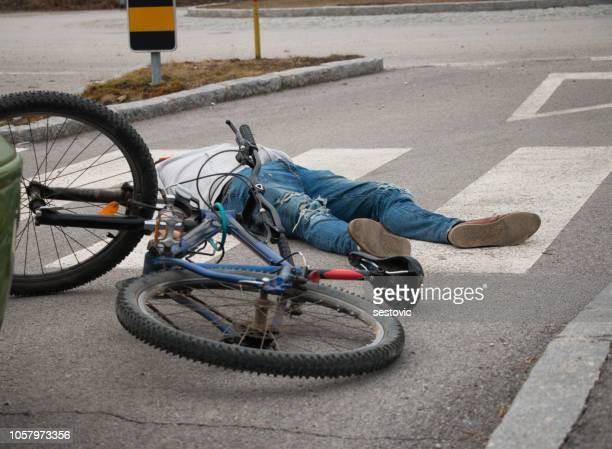 bicycle accident - dead bodies in car accident photos stock photos and pictures