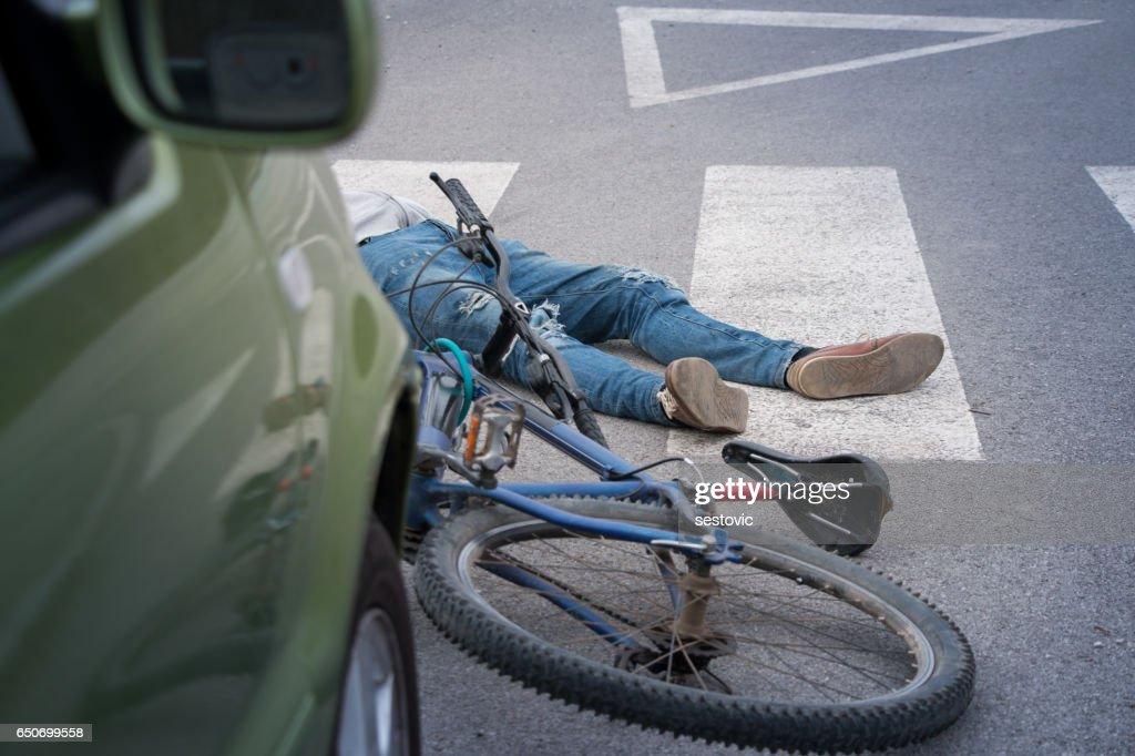 Bicycle accident : Stock Photo